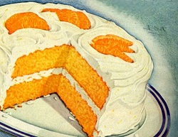 Vintage Orange Layer Cake